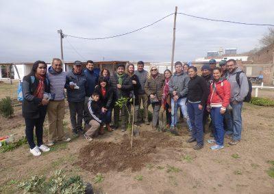 Vecinos participantes del Parque Agroecológico
