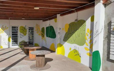 El Parque Agroecológico luce un nuevo mural